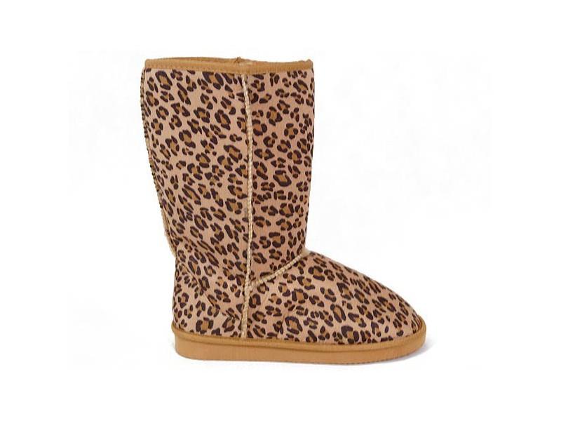 Zimné papučovky leopard