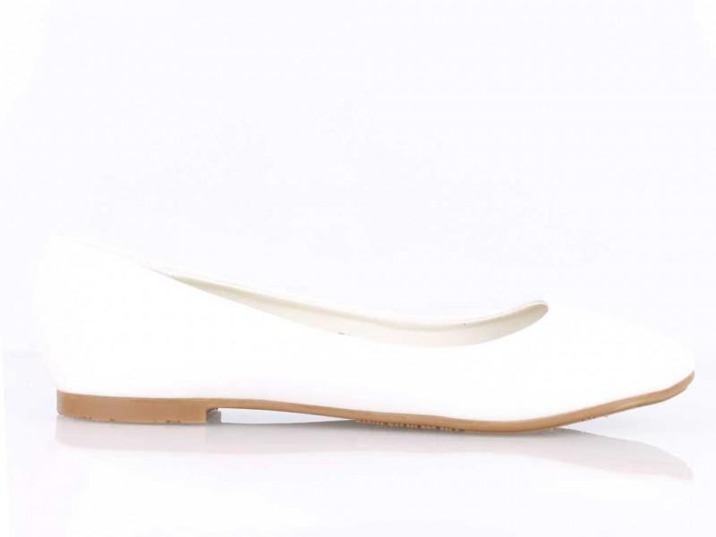 Biele balerínky Simply