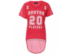 Baseballový top BOSTON červený