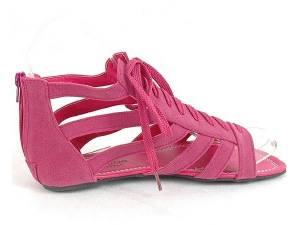 Ružové letné gladiatorky