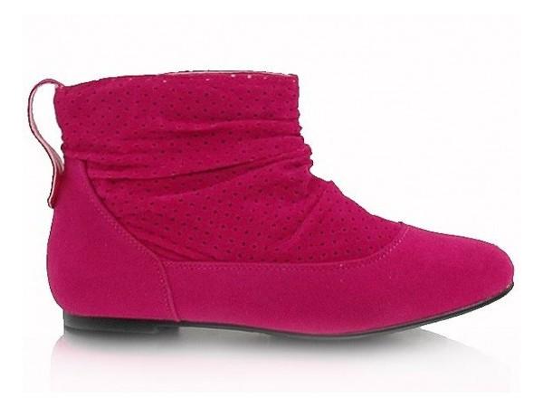 Členkové čižmičky ružové