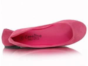 Ružové semišové balerínky