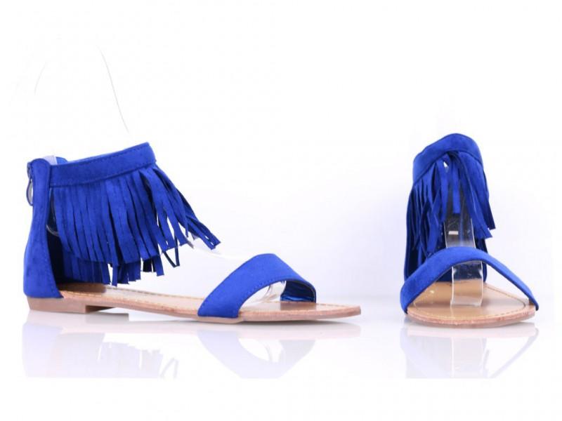 Modré strapcové gladiatorky