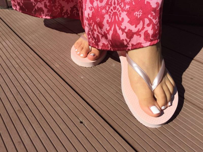 Plážové žabky ružové