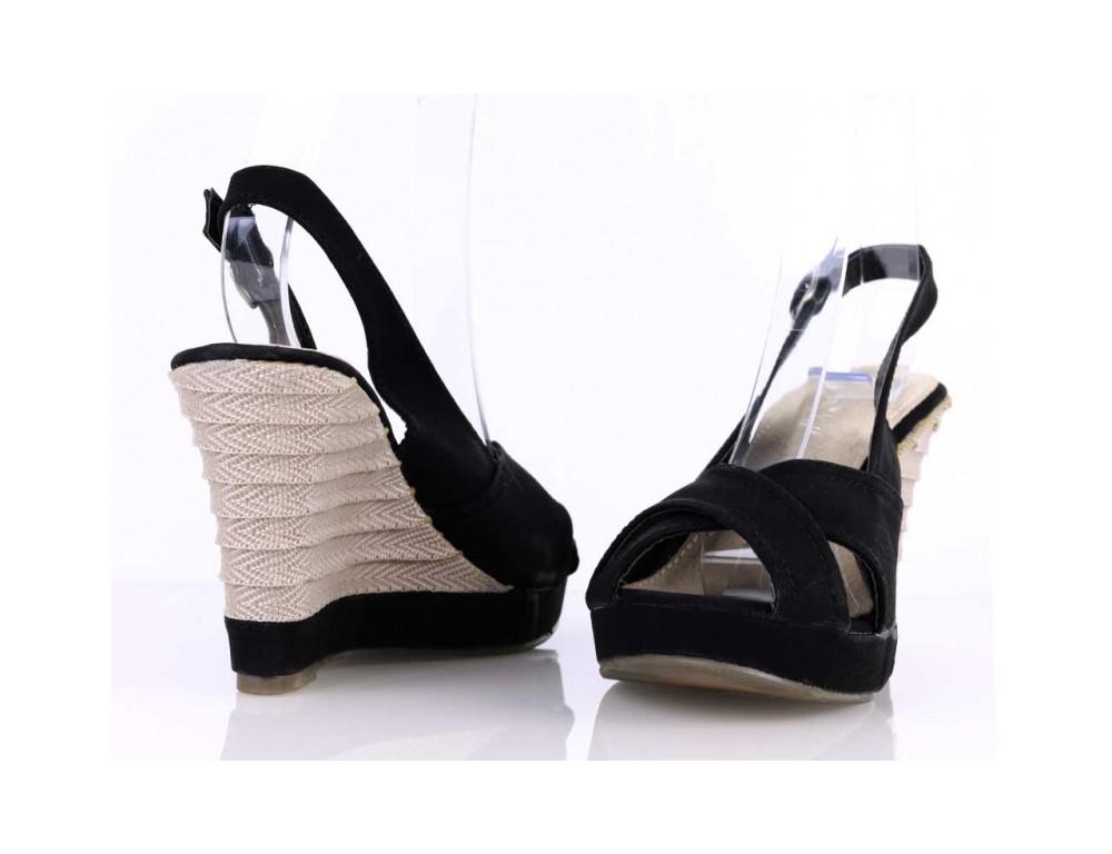 32efcb32b690 Sandálky na platforme čierne ...