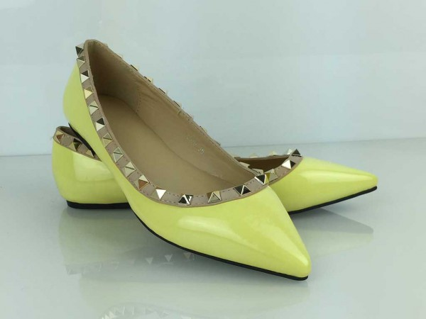 Vybíjané balerínky žlté