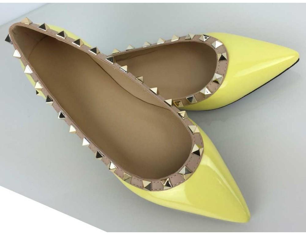 7199617a82254 Vybíjané balerínky žlté; Vybíjané balerínky žlté ...