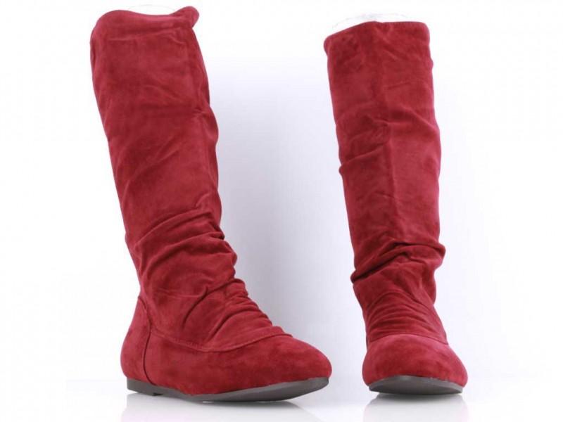 Červené čižmy Glam