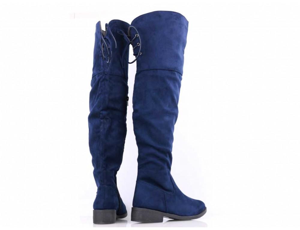 976e9df56713 Čižmy nad koleno modré ...