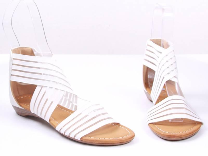 Biele letné gladiatorky