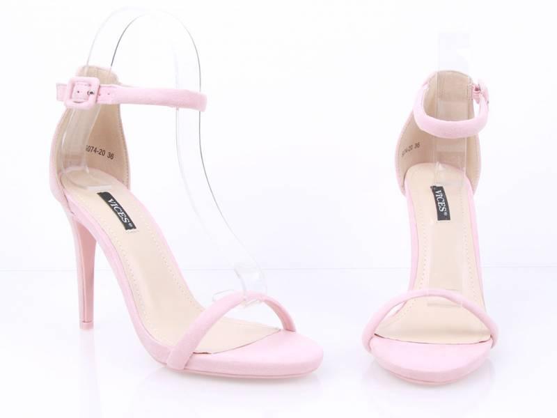 Semišové sandálky ružové