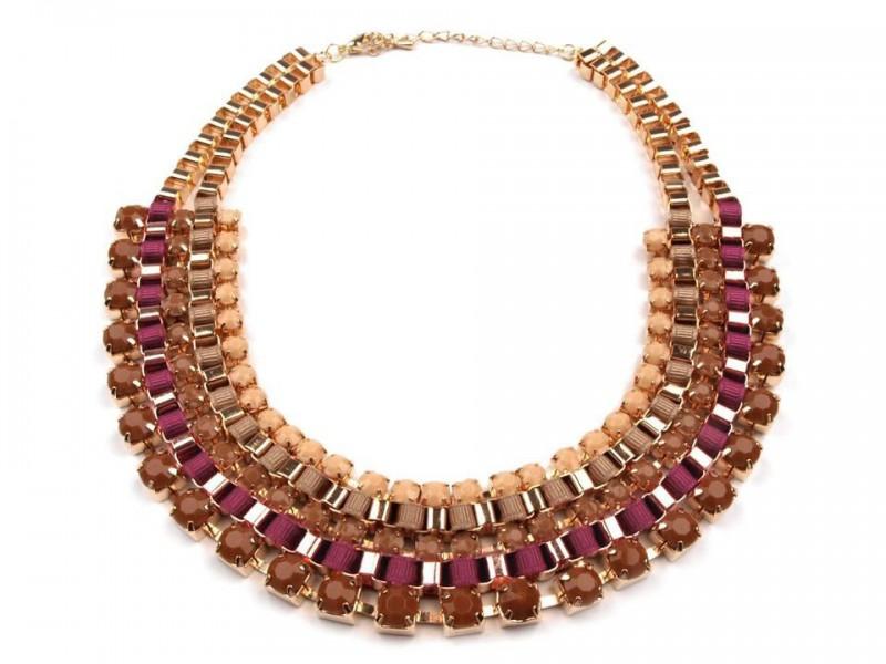 Kovový náhrdelník TOPAZ