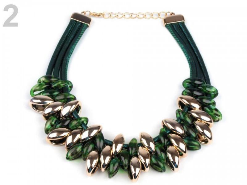 Plastový náhrdelník s korálikmi