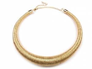 Kovový náhrdelník špirálový