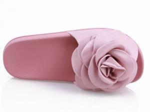 Ružové saténové šľapky ROSE